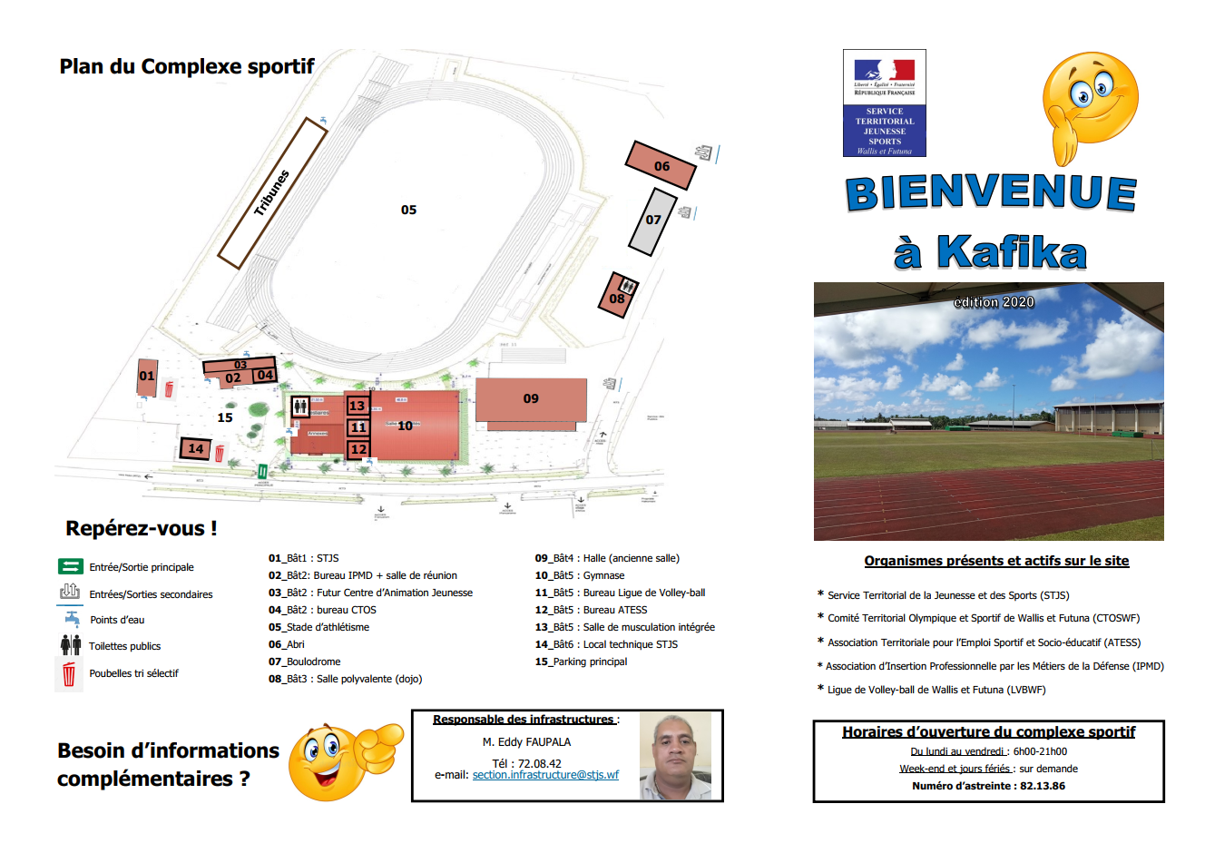 Plan du complexe sprtif de Kafika