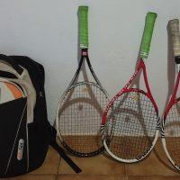 Matériel de tennis (raquettes, machine à corder, cordages, balles, ...)